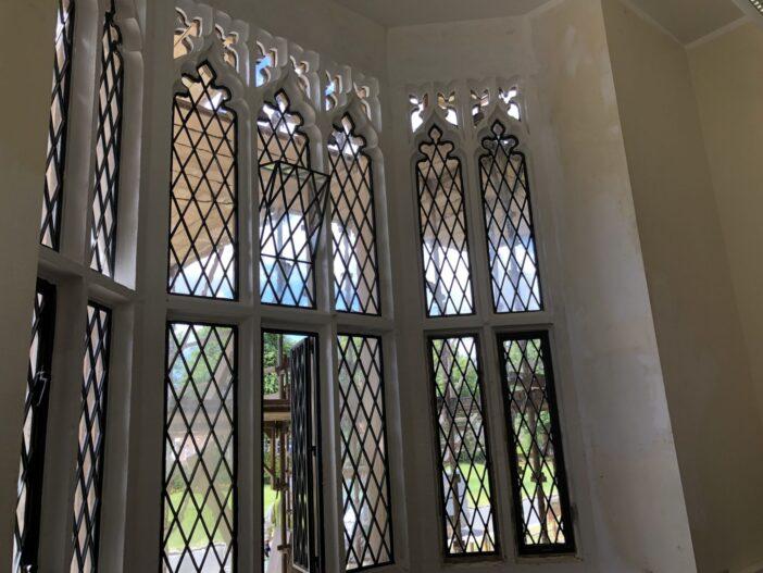 Folded zinc windows